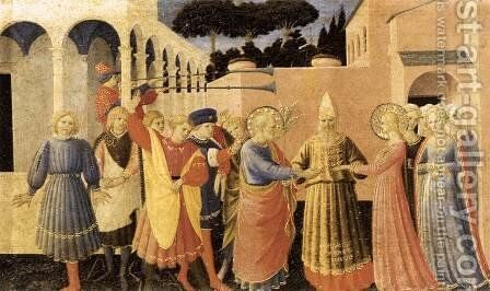 Marriage of the Virgin 1433 by Angelico Fra - Reproduction Oil Painting