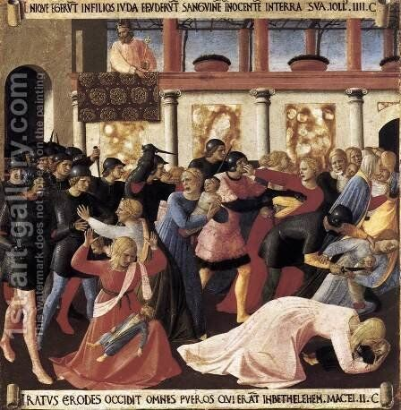 Massacre of the Innocents 1450 by Angelico Fra - Reproduction Oil Painting