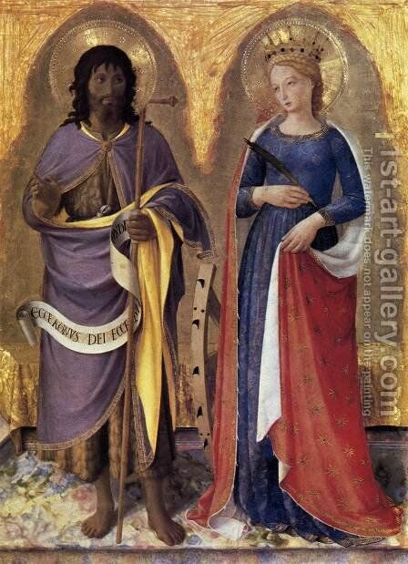 Perugia Altarpiece (right panel) 1437 by Angelico Fra - Reproduction Oil Painting