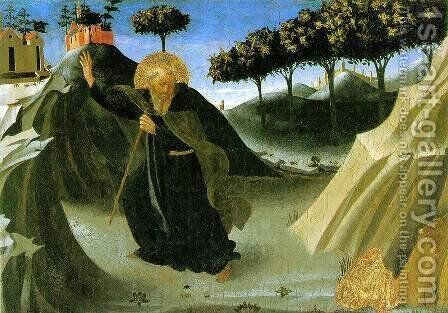 Saint Anthony the Abbot Tempted by a Lump of Gold 1436 by Angelico Fra - Reproduction Oil Painting
