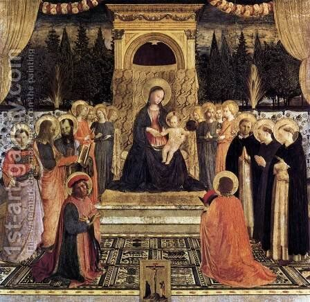 San Marco Altarpiece 1438 by Angelico Fra - Reproduction Oil Painting