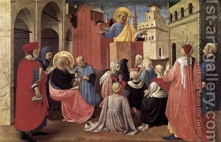 St Peter Preaching in the Presence of St Mark 1433 by Angelico Fra - Reproduction Oil Painting