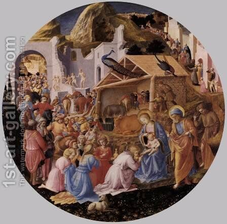The Adoration of the Magi  1445 by Angelico Fra - Reproduction Oil Painting