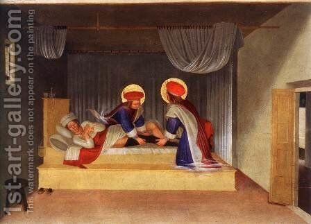 The Healing of Justinian by Saint Cosmas and Saint Damian 1438 by Angelico Fra - Reproduction Oil Painting