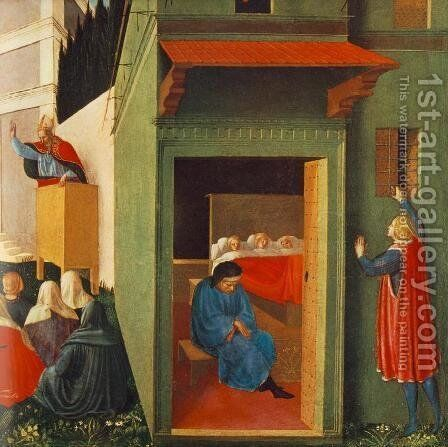 The Story of St Nicholas, Giving Dowry to Three Poor Girls 1437 by Angelico Fra - Reproduction Oil Painting