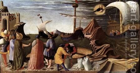 The Story of St Nicholas, St Nicholas saves the ship 1437 by Angelico Fra - Reproduction Oil Painting