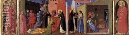 Virgin with Child and Four Saints (detail of the predella)  1437 by Angelico Fra - Reproduction Oil Painting