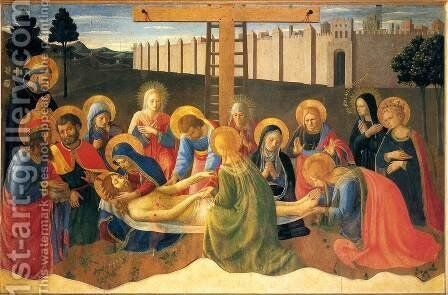 Lamentation over the Dead Christ, 1436 by Angelico Fra - Reproduction Oil Painting