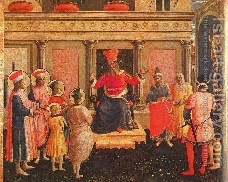 Saint Lawrence Distributing Alms, 1447-49 by Angelico Fra - Reproduction Oil Painting