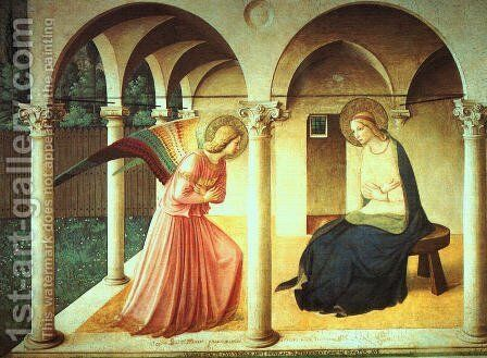 The Annunciation, late 1430s by Angelico Fra - Reproduction Oil Painting