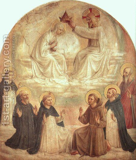 The Coronation of the Virgin, 1440-41 by Angelico Fra - Reproduction Oil Painting