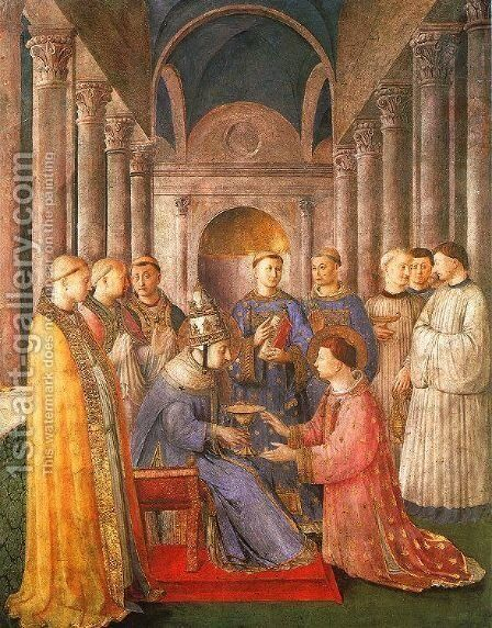 The Ordination of Saint Lawrence, 1447-49 by Angelico Fra - Reproduction Oil Painting