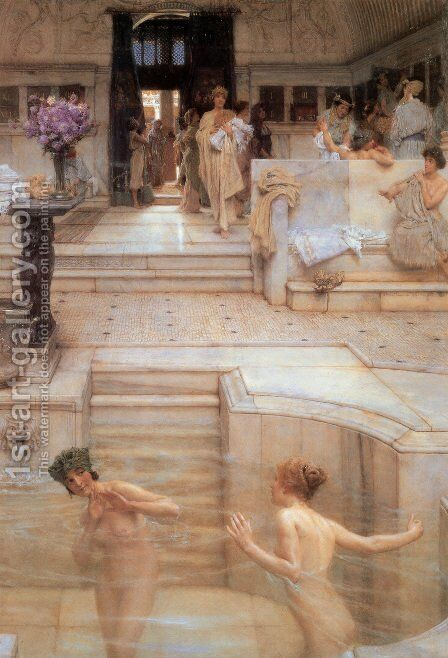 A Favorite Custom, 1909 by Sir Lawrence Alma-Tadema - Reproduction Oil Painting