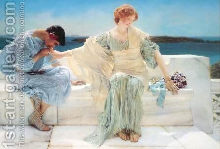 Ask Me No More, 1906 by Sir Lawrence Alma-Tadema - Reproduction Oil Painting