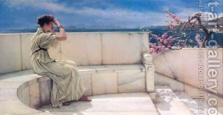 Expectations, 1885 by Sir Lawrence Alma-Tadema - Reproduction Oil Painting