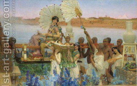The Finding of Moses, 1904 by Sir Lawrence Alma-Tadema - Reproduction Oil Painting