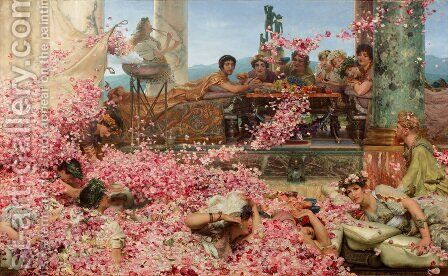 The Roses of Heliogabalus, 1888 by Sir Lawrence Alma-Tadema - Reproduction Oil Painting
