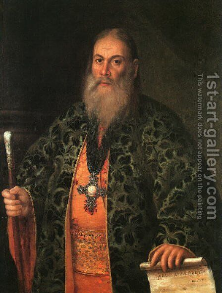 Portrait of Father Fyodor Dubyansky, 1761 by Aleksei Antropov - Reproduction Oil Painting