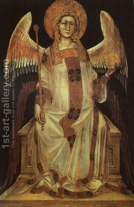 Angel 1354 (2) by Guariento di Arpo - Reproduction Oil Painting