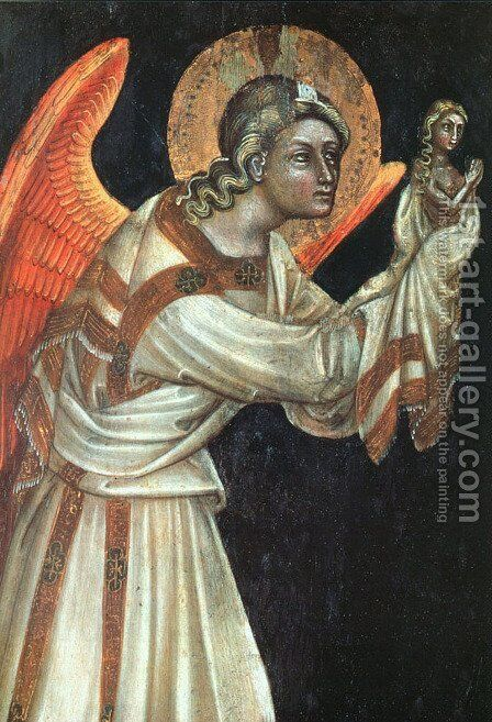 Angel 1354 (3) by Guariento di Arpo - Reproduction Oil Painting