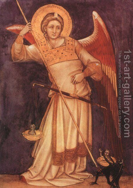 Archangel 1350 by Guariento di Arpo - Reproduction Oil Painting