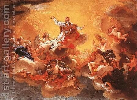 Apotheosis of St Ignatius c. 1685 by Baciccio II - Reproduction Oil Painting