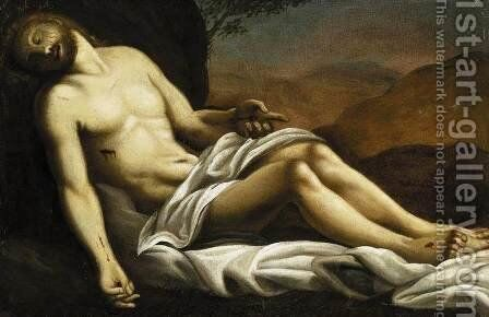 The Dead Christ by Sisto Badalocchio - Reproduction Oil Painting