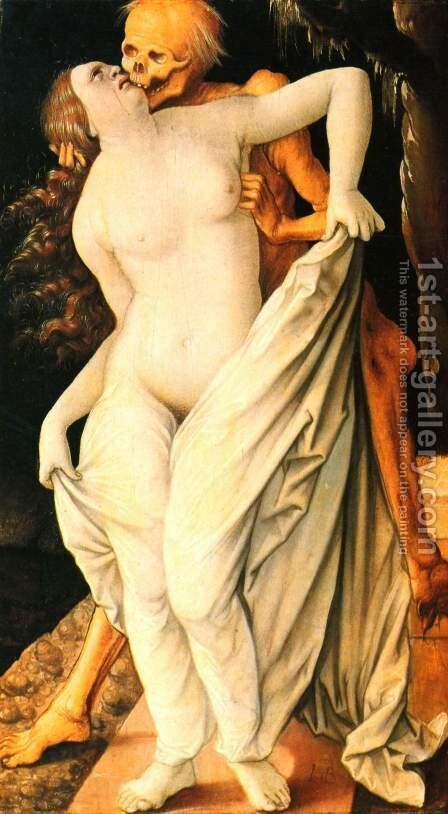 Death and the Maiden 1518-20 by Hans Baldung  Grien - Reproduction Oil Painting