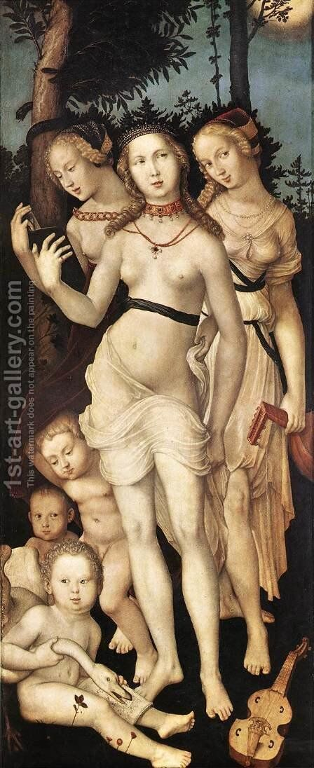 The Three Graces  c. 1540 by Hans Baldung  Grien - Reproduction Oil Painting