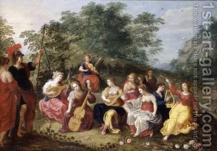 Apollo and the Nine Muses by Hendrik van Balen, I - Reproduction Oil Painting