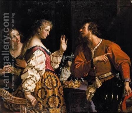 Semiramis Called to Arms 1645 by Giovanni Francesco Guercino (BARBIERI) - Reproduction Oil Painting