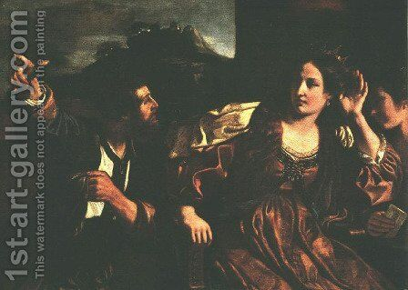 Semiramis Receiving Word of the Revolt of Babylon 1624 by Giovanni Francesco Guercino (BARBIERI) - Reproduction Oil Painting