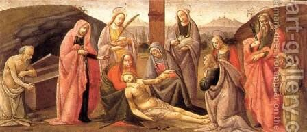 Predella: Deposition 1488 by Bartolomeo Di Giovanni - Reproduction Oil Painting