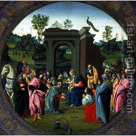 The Adoration of the Magi c. 1490 by Bartolomeo Di Giovanni - Reproduction Oil Painting