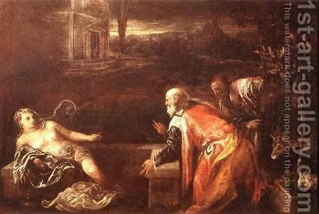 Susanna and the Elders 1571 by Jacopo Bassano (Jacopo da Ponte) - Reproduction Oil Painting