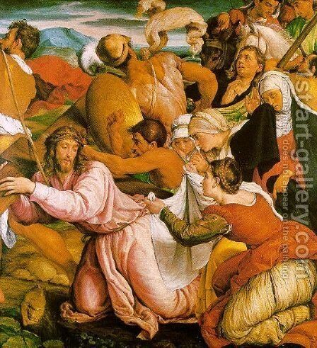 The Way to Calvary c. 1540 by Jacopo Bassano (Jacopo da Ponte) - Reproduction Oil Painting