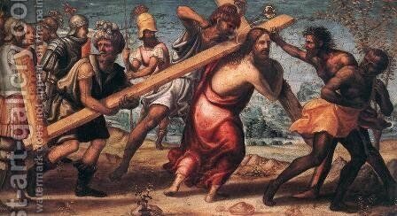 The Road to Calvary c. 1510 by Il Sodoma (Giovanni Antonio Bazzi) - Reproduction Oil Painting