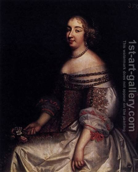 Portrait of Mademoiselle de Montpensier 1655 by Charles Beaubrun - Reproduction Oil Painting