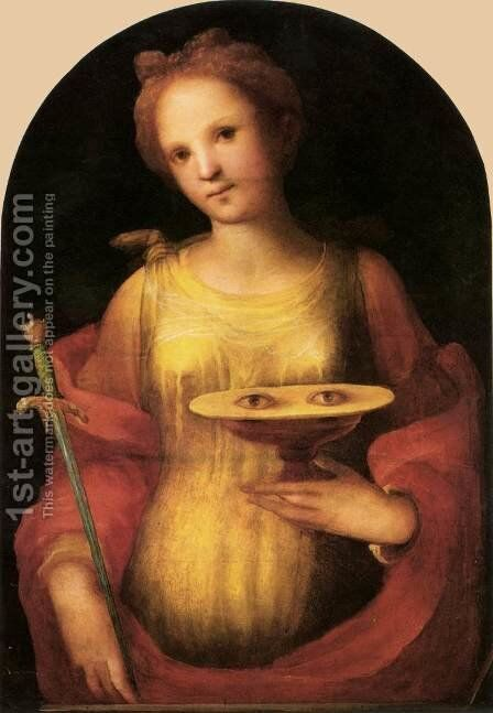 St Lucy 1521 by Domenico Beccafumi - Reproduction Oil Painting