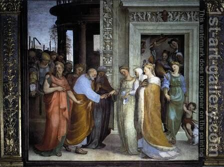 The Betrothal of the Virgin 1518 by Domenico Beccafumi - Reproduction Oil Painting
