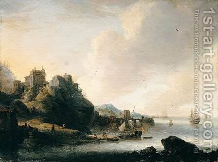 Coastal Landscape by Jan Abrahamsz. Beerstraten - Reproduction Oil Painting
