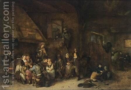 Tavern Interior by Cornelis (Pietersz.) Bega - Reproduction Oil Painting