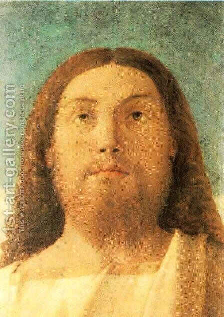 Head of the Redeemer 1500-02 by Giovanni Bellini - Reproduction Oil Painting