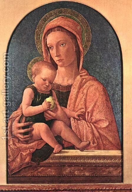 Madonna and Child 1460-64 by Giovanni Bellini - Reproduction Oil Painting