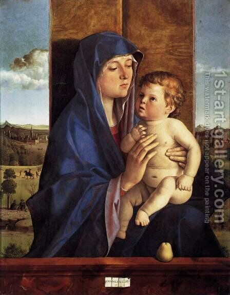 Madonna and Child 1480-90 by Giovanni Bellini - Reproduction Oil Painting