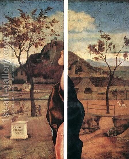 Madonna and Child Blessing (details) 1510 by Giovanni Bellini - Reproduction Oil Painting