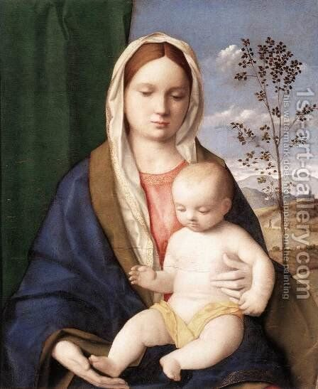 Madonna and Child c. 1510 by Giovanni Bellini - Reproduction Oil Painting