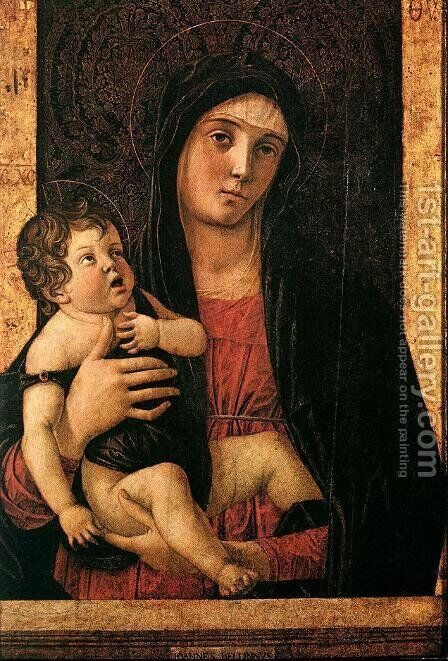 Madonna with Child c. 1475 by Giovanni Bellini - Reproduction Oil Painting