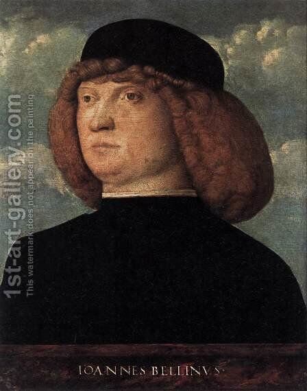 Portrait of a Young Man 1500 by Giovanni Bellini - Reproduction Oil Painting