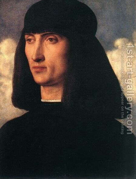 Portrait of a Young Man c. 1500 by Giovanni Bellini - Reproduction Oil Painting